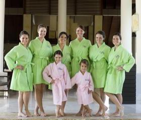 Custom Personalized Set of 8 Waffle Robes for Bridal party